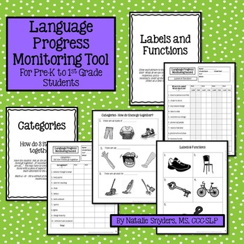 Language Progress Monitoring Tool (Lower Level) for Speech-Language Therapy