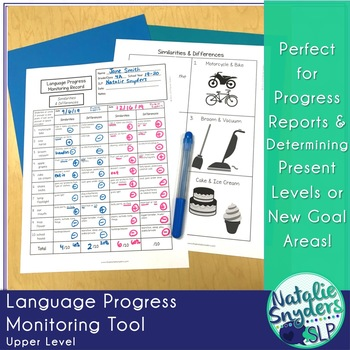 Language Progress Monitoring Tool (Upper Level) for Speech Language Therapy