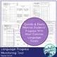Language Progress Monitoring Tool (Upper Level) for Speech