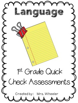 First Grade Language Exit Slips