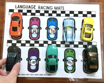 Language Racing Mats Toy Companion: A Speech Therapy Activity