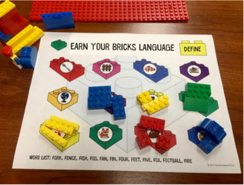 Earn Your Bricks Language Toy Companion: A Speech Therapy Activity