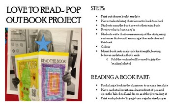 Language, Reading- Love To Read, Pop Up QR Code Project