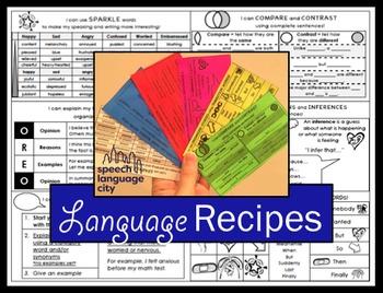 Language Recipe Cards