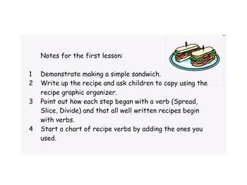 Language SmartBoard - Recipe Writing - Procedural text
