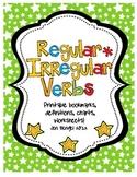 Language Regular & Irregular Verbs Printables with CCSS!!