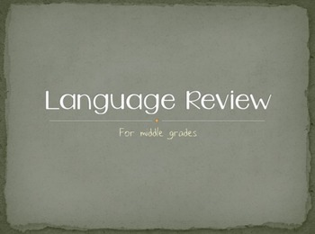 Language Review For Middle Grades