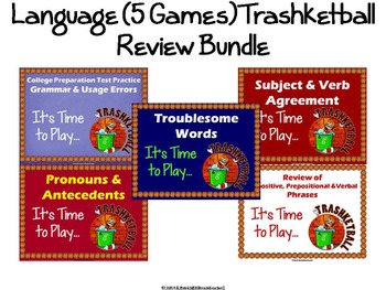 Language Review Trashketball Game Bundle (5 Games)