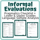 ASHA Portal's Based Pragmatic and Expressive Informal Eval Forms