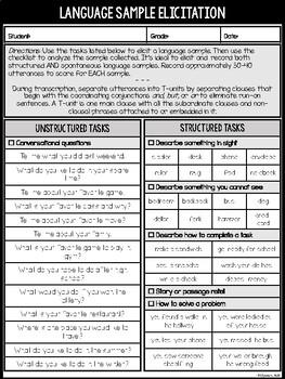 Language Sample Analysis for Upper Grade Levels