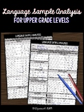 Language Sample Analysis for Upper Grade Levels