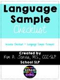Language Sample Checklist