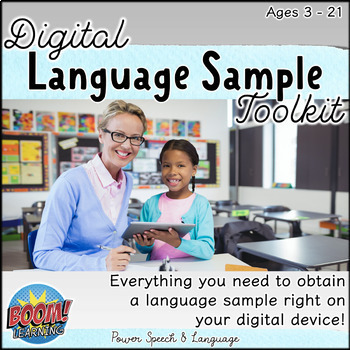 Language Sample Digital Toolkit, BOOM Cards Speech Therapy, Assessment