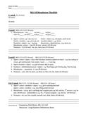 Language Sample Summary Checklist Part 2 MLU