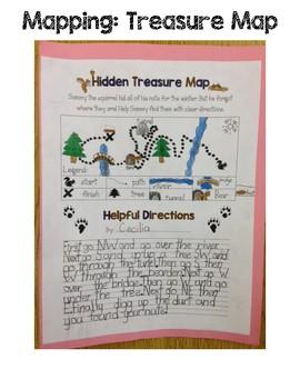 Language, Science- Squirrel's Hidden Treasure Map