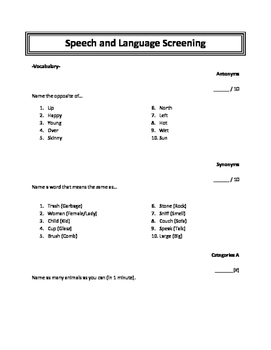 Language Screening Expanded