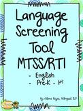 Language Screening Tool – MTSS/RTI