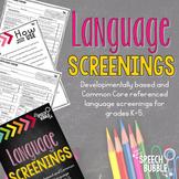 Language Screenings