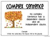 Language- Sentences; simple, compound, complex