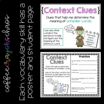 Language Skill Posters & Student Pages