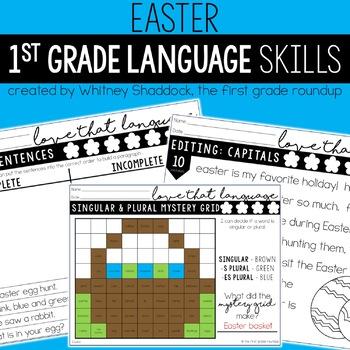 Language & Grammar Worksheets for First Grade: *GROWING BUNDLE*