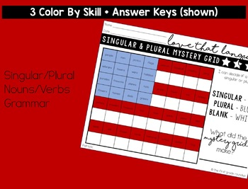 Language & Grammar Worksheets for Patriotic Holidays