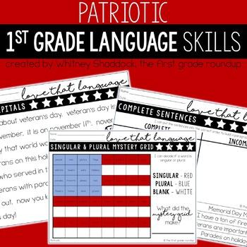 Patriots Day Language Grammar Worksheets Tpt