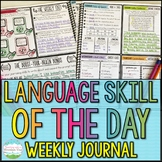 Language Skill of the Day Weekly Journal for Spiral Review