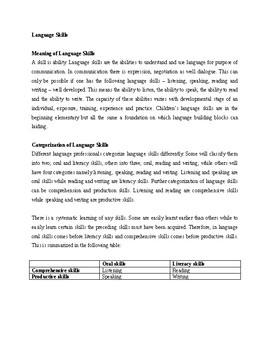 Teaching Language Skills
