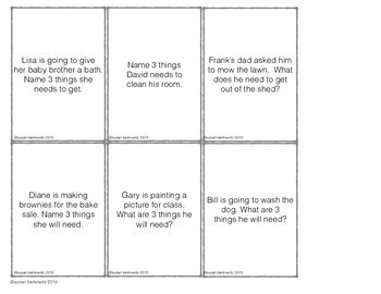 Receptive Expressive Language Skills Cards and Game for Speech Therapy