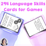 Receptive Expressive Language Skills Cards and Game for Sp