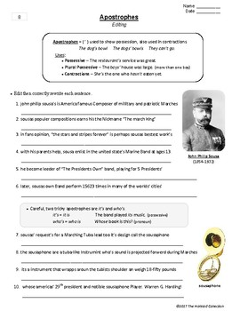 Editing and Proofreading Worksheets | 35 Grammar Worksheets (Gr. 3-7)