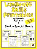 Build Language Skills Printables for Students w/ Autism &
