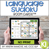 Language Skills Sudoku BOOM CARD™ Deck - Distance Learning