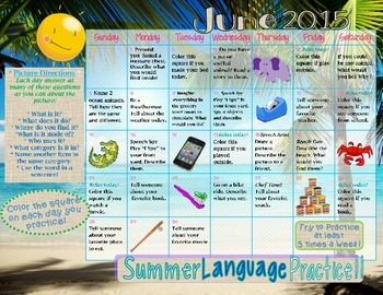 Language Skills ~ Summer Homework Practice ~ 2015