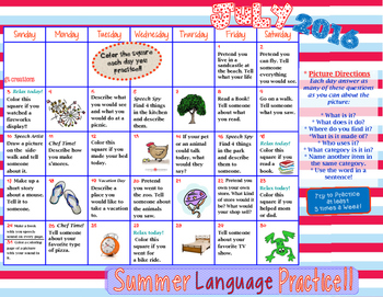 Language Skills ~ Summer Homework Practice ~ 2016