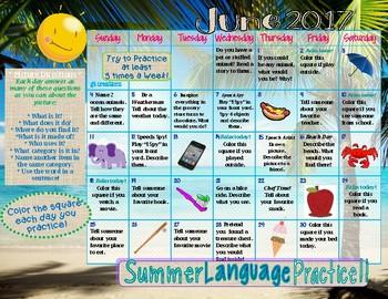 Language Skills ~ Summer Homework Practice ~ 2017