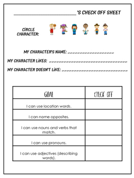 Language Skills With Paper Characters: Spatial, Antonyms, Pronouns, Describing