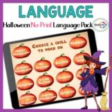 Halloween Language activities Speech Therapy   No Print Language Skills