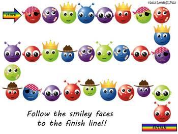 Language Smileys (target categories & describing skills)