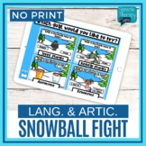 No Print Language Snowball Fight
