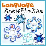 Language Snowflakes: Snowflake Crafts for Language