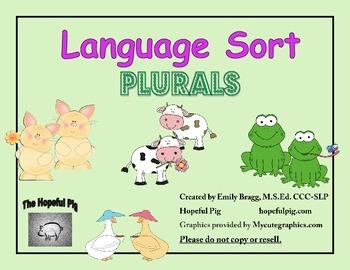 Language Sort: Plurals