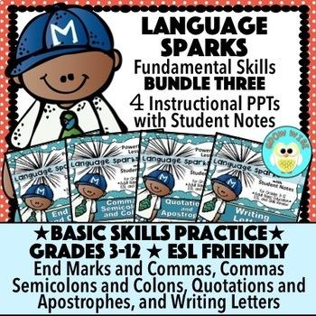 Language Sparks Bundle Three!  Basic Language Skills!