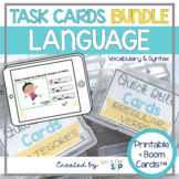 Language Speech Therapy BUNDLE Printable Drill Cards + Dig