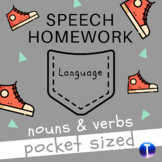 Language Speech Therapy Homework: Nouns and Verbs