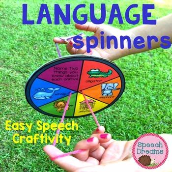 Language Spinner Speech Craft {therapy craftivities}