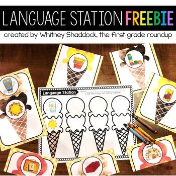 Language Center FREEBIE for Kindergarten