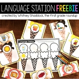 Language Center FREEBIE for Kindergarten
