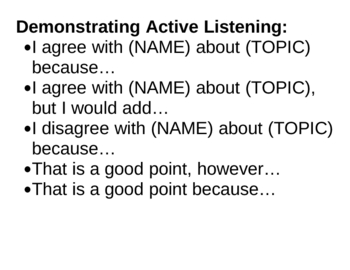 Language Strategies for Active Classroom Participation